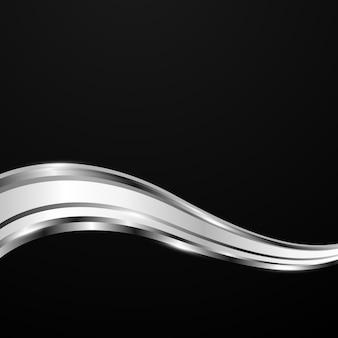 Abstrakter silberner wellenhintergrund