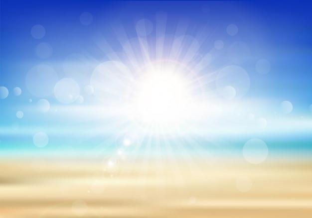 Abstrakter sommerhintergrund mit einem strandthema