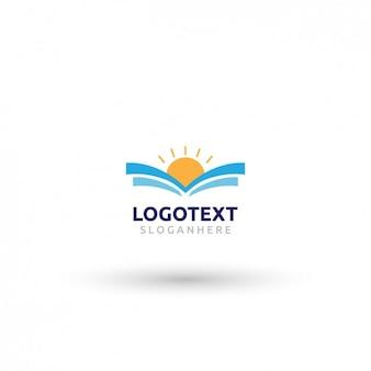 Abstrakter sonnenuntergang logo