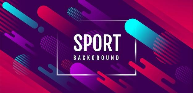 Abstrakter sport-hintergrund, aktive bewegung, dynamisch, vektorillustration.