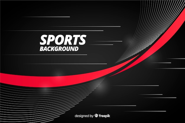 Abstrakter sporthintergrund mit rotem streifen