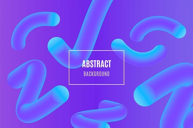 Abstrakter steigungshintergrund mit flüssigen formen