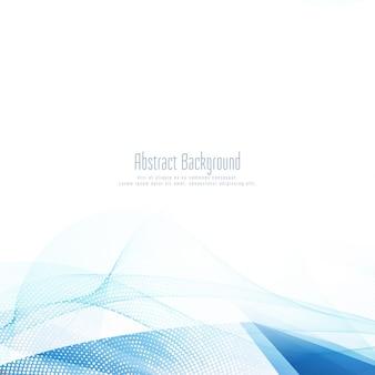 Abstrakter stilvoller blauer wellenförmiger hintergrund