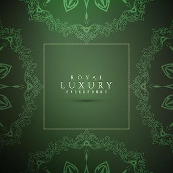 Abstrakter stilvoller grüner luxushintergrund
