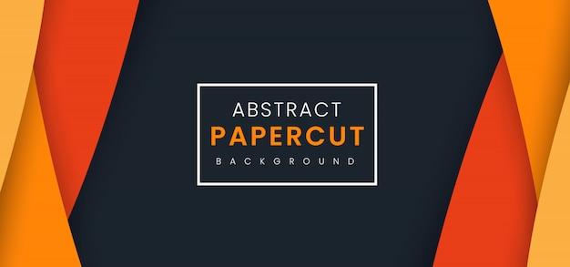 Abstrakter stilvoller papierschnitt-hintergrund