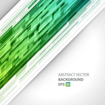 Abstrakter streifen mit grünem technokristallschablonenhintergrund.