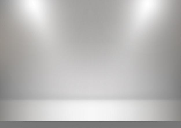 Abstrakter studio-, weißer und grauerhintergrund