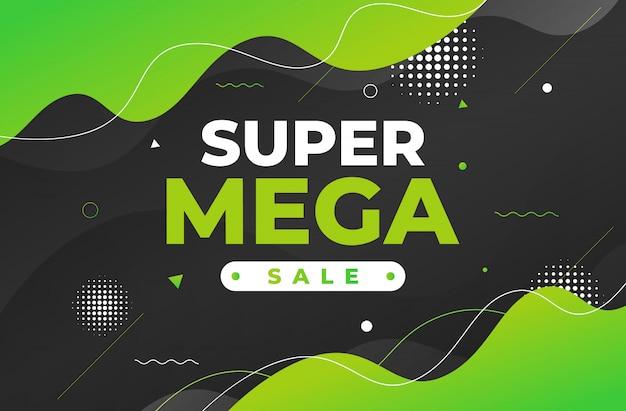 Abstrakter super-mega-verkauf