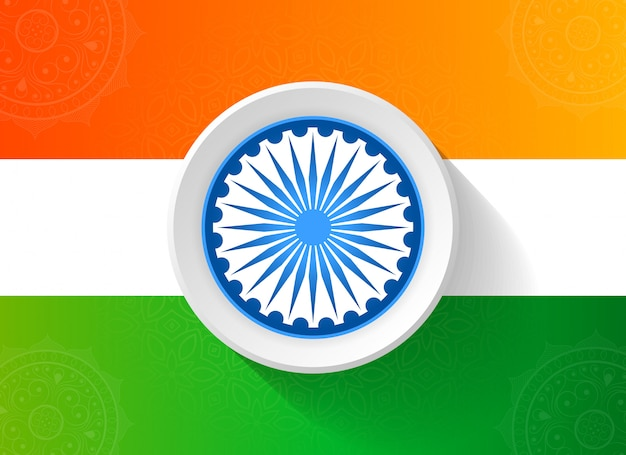 Abstrakter tag der republik indien mit dreifarbiger flagge