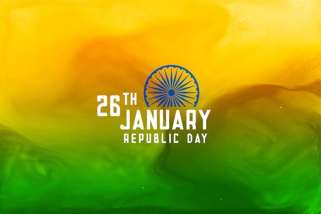 Abstrakter tag der republik von indien