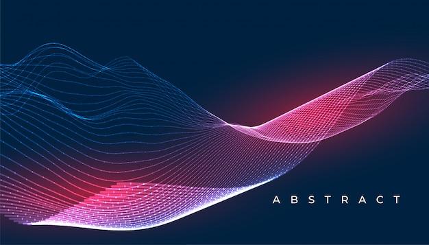 Abstrakter tapetendesignhintergrund der digitalen leuchtenden wellenlinien