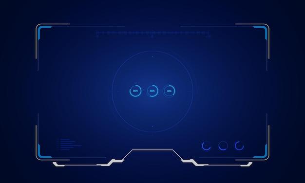 Abstrakter tech-sci-fi-hologramm-rahmen-vorlagen-design-hintergrund