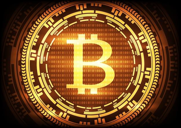 Abstrakter technologie bitcoins logohintergrund.