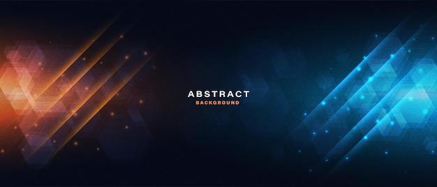 Abstrakter technologie-high-tech-hintergrund mit lichteffekt light