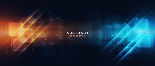Abstrakter technologie-high-tech-hintergrund mit lichteffekt