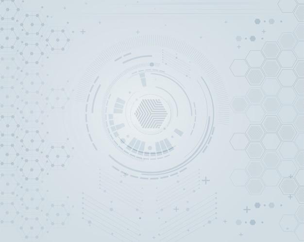 Abstrakter technologie-hintergrund mit geometrischem