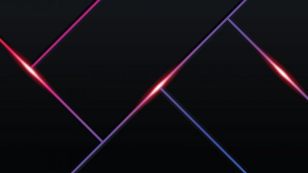 Abstrakter technologie-moderner hintergrund mit glühenden neonlichtern