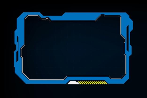 Abstrakter technologie-sciencefiction-hologrammrahmen-designhintergrund