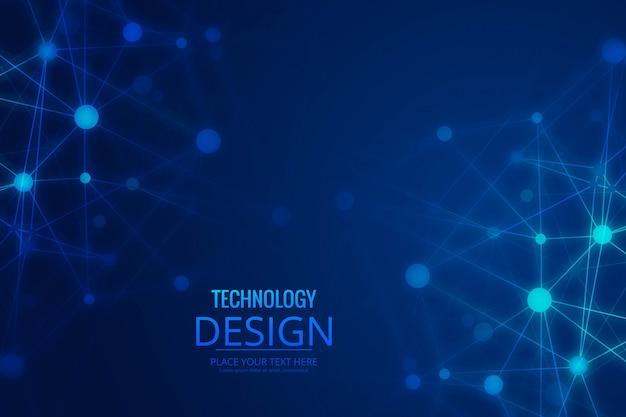 Abstrakter technologiedraht-polygonhintergrund