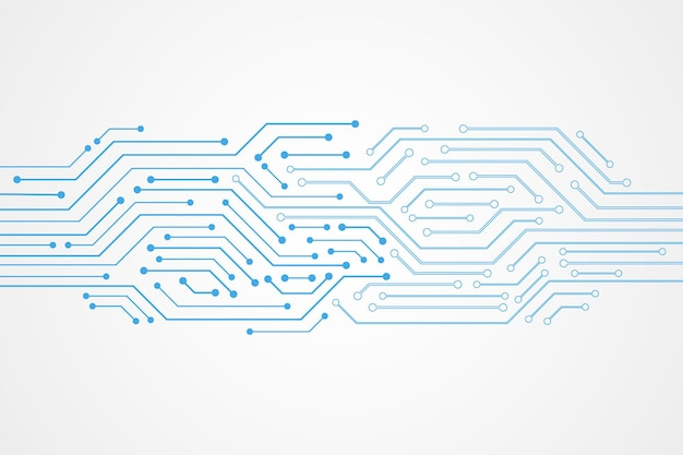 Abstrakter technologiehintergrund, blaues leiterplattenmuster