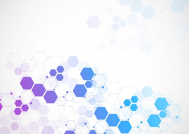 Abstrakter technologiehintergrund der molekularen struktur