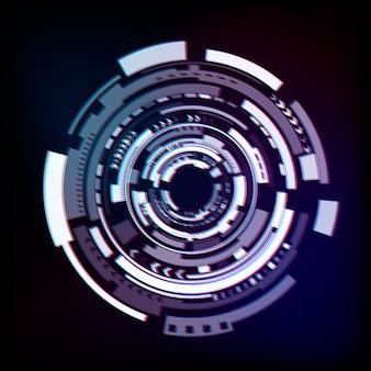 Abstrakter technologiehintergrund. glitch-effekt. hintergrund