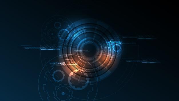 Abstrakter technologiehintergrund hi-tech-kommunikationskonzept Premium Vektoren