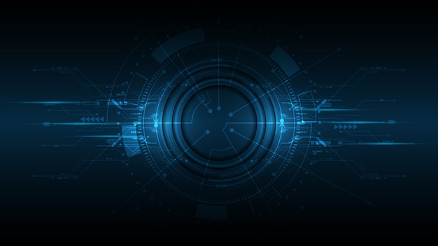 Abstrakter technologiehintergrund hi-tech-kommunikationskonzept