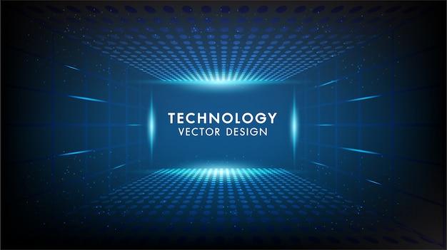 Abstrakter technologiehintergrund high-teche kommunikation, technologie, digitales geschäft