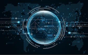 Abstrakter Technologiehintergrund Hightech- Kommunikation