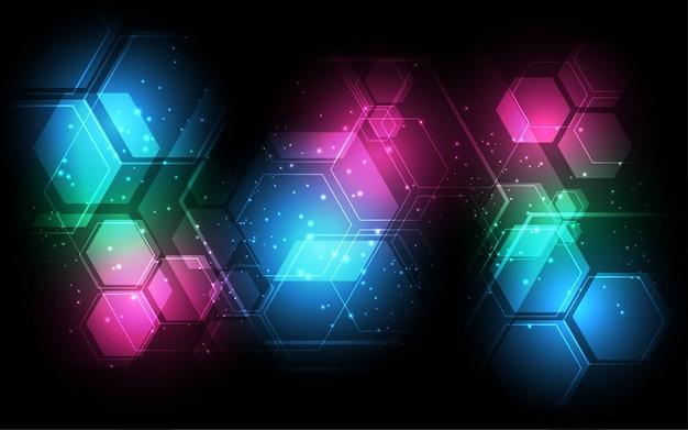 Abstrakter technologiehintergrund hightech- kommunikationskonzept-innovationshintergrund