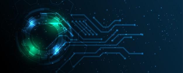 Abstrakter technologiehintergrund hightech- kommunikationskonzeptinnovation