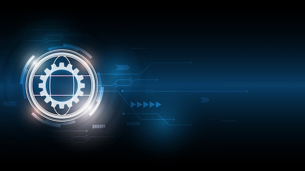 Abstrakter technologiehintergrund, innovationshintergrund des hi-tech-kommunikationskonzepts, digitaler blauer hintergrund der wissenschaft und technologie