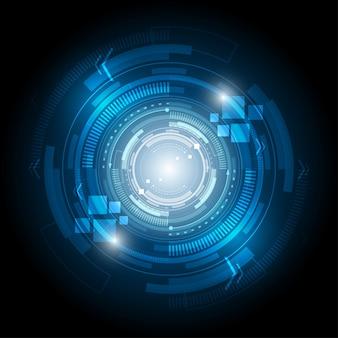 Abstrakter technologiehintergrund kreisschnittstellenschaltungskommunikationskonzept