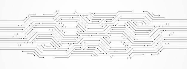 Abstrakter technologiehintergrund, leiterplatte, mikrochip