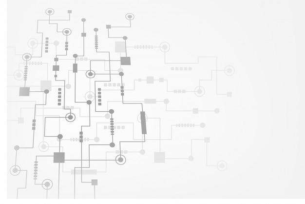 Abstrakter technologiehintergrund mit futuristischer leiterplatte