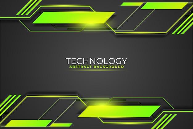 Abstrakter technologiehintergrund mit geometrischen formen, die die zukunft beschreiben