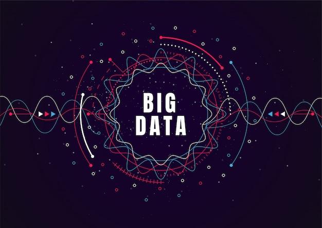 Abstrakter technologiehintergrund mit großen daten. internetverbindung