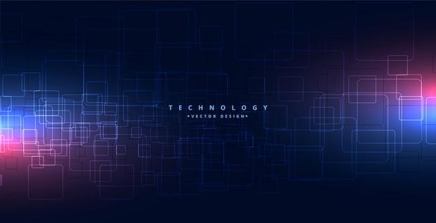 Abstrakter technologiehintergrund mit leuchtenden lichtern