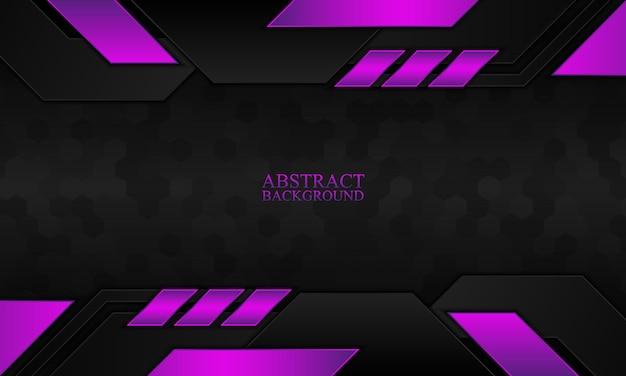 Abstrakter technologiehintergrund mit schwarzer und purpurroter streifenvektorillustration