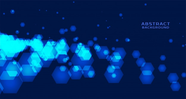 Abstrakter technologiehintergrund mit sechseckigen formen