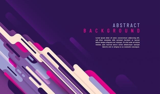 Abstrakter technologiehintergrund mit textschablone und design mit gerundeten formen.