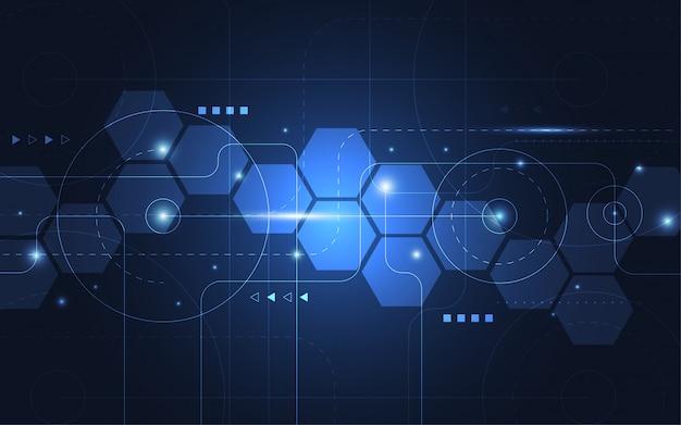 Abstrakter technologiepunkt und linie digitales high-teches design der verbindung