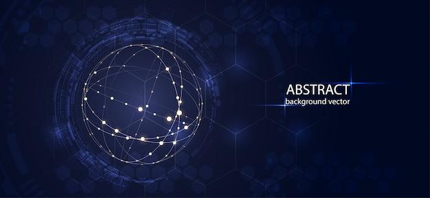 Abstrakter technologievektorhintergrund für geschäft wissenschaft, technologiedesign.