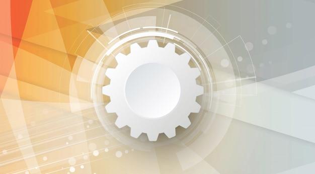 Abstrakter technologischer hintergrund business & entwicklungsrichtung