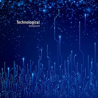 Abstrakter technologischer hintergrund. schaltkreis