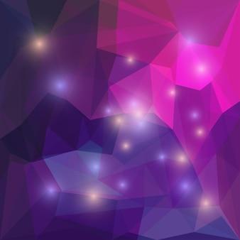 Abstrakter, tiefvioletter, polygonaler, dreieckiger geometrischer hintergrund für die verwendung im design für karten, einladungen, poster, banner, plakate oder plakatabdeckungen