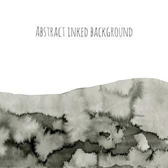 Abstrakter tintenvektorhintergrund auf weiß. graue aquarellbeschaffenheit für ihr design. schwarzerde.