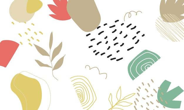 Abstrakter trendiger seeblumenhintergrund. das beste design für ihr unternehmen.