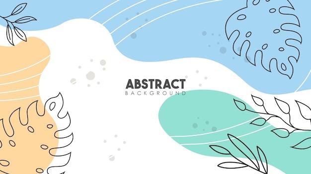 Abstrakter tropischer blätterelementblumenplakathintergrund